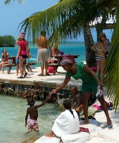 The Split. A hangout on the beautiful small island of Caye Caulker Belize