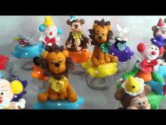 Lembrança potinho de papinha tema Circo em Biscui - YouTube