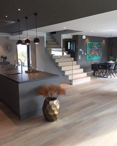 Ideas house interior stairs kitchens for 2019 Dream Home Design, Modern House Design, Home Interior Design, Interior Architecture, Interior Stairs, Pinterest Home, Home Fashion, House Rooms, Luxury Homes