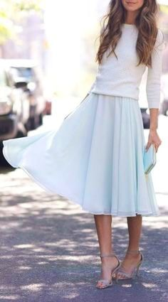 summer outfits Beautiful Flowing Skirt 5 Tips To Look Modest But Stylish It's A Little Startling And Alarming How, Today, Being Stylish Has Become Synonymous To Showing As Much Skin As You Can. I Personally Think That Looking Sexy Has Very Little To Do With Look Fashionable And Stylish.