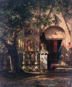 Color & Light - Albert Bierstadt - Sunlight and Shadow - 1862