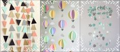 Love these colourful decorations. I want some of these to baby room