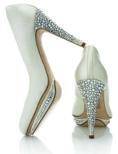 b198bc6f692eb3 Sparkling rhinestone white wedding shoes Wedding Heels