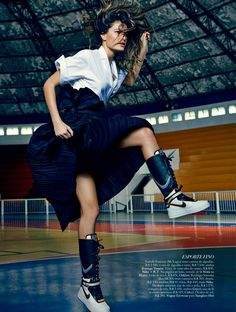 Sports Luxe   Isabeli Fontana for Harper's Bazaar Brazil June 2014 by Fabio Bartelt