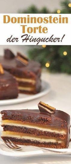 Der Hingucker auf dem weihnachtlichen Kuchenbuffet: Dominostein Torte natürlich auch vegan möglich aus dem Thermomix