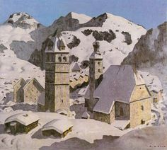 Biography, Literature and Works by Alfons Walde The Austrian painter and architect Alfons Walde was born on February 1891 in the village of Oberndorf near Kitzbühel. Museum, Quote Posters, Vintage Posters, Austria, Landscape Paintings, Mount Rushmore, Skiing, Literature, Tables