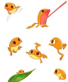 This is the most adorable frog drawing I have ever seen. Doodle Drawing, Frog Drawing, Cute Drawings, Animal Drawings, Character Concept, Character Art, Cute Frogs, Animal Design, Creature Design