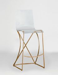 Lucite Johnson Bar Stool from Gabby. Obsessed with this for my kitchen!