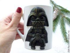 """Кружки и чашки ручной работы. Ярмарка Мастеров - ручная работа. Купить Кружка с декором """" Star Wars"""". Handmade. Белый"""
