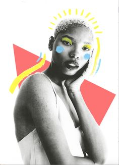 Myles Loftin, BFA Photography Challenges Racist Stereotypes Through Photography Collage Illustration, Photography Illustration, Portrait Illustration, Graphic Illustration, Portrait Photography, Graphic Design Posters, Graphic Design Inspiration, Creative Portraits, Face Art