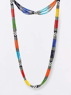 beaded masai necklace <3