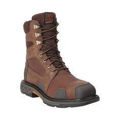 Men's Ariat Overdrive Wide Square Composite Toe, Size: Chestnut Brown Full Grain Leather Ariat Work Boots, Combat Boots, Mens Work Boots, Men's Boots, Composite Toe Boots, Mens Brown Boots, Mens Boots Fashion, Fashion Vest, Designer Boots