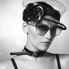Laetitia Casta makes a sleek beauty for Chanel's spring eyewear campaign. (Photo by Karl Lagerfeld)