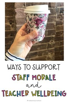 Ways to support Staff morale and teacher wellbeing. Here are 20 ways of our favourite ways to support staff wellbeing, build morale and overall have fun as a teaching team at school. Dual Language Classroom, Staff Morale, Morale Boosters, Staff Meetings, Staff Training, Teacher Memes, School Staff, New Teachers, Professional Development