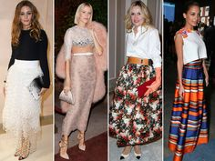 Diez claves para un 'look' de fiesta con falda larga Zara, Olivia Palermo, Sequin Skirt, Sequins, Two Piece Skirt Set, My Style, Long Skirts, Wedding, Irene