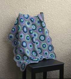 Crochet baby blanket colorful baby blanket gray green lavender newborn blanket baby shower gift