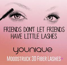 Friends don't let friends have little lashes #Younique