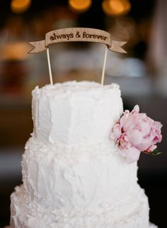 wooden cake topper | Nathan Westerfield