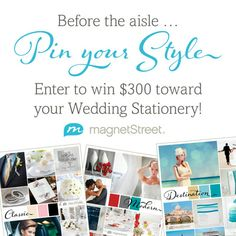 A Giveaway! Win your Wedding Stationery from MagnetStreet.