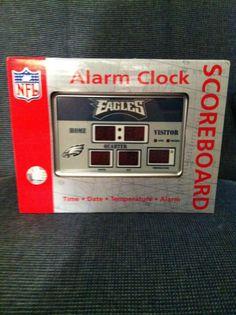 Philadelphia Eagles NFL Large Scoreboard LED Clock Office Bedroom Free Shipping #PhiladelphiaEagles