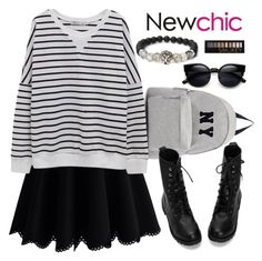 """""""Untitled #1477"""" by anarita11 ❤ liked on Polyvore featuring Chicwish, Joshua's and Forever 21"""