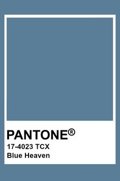 Pantone Blue Heaven Pantone Tcx, Pantone Swatches, Color Swatches, Colour Pallete, Colour Schemes, Color Trends, Pantone Color Chart, Pantone Colour Palettes, Carta Pantone
