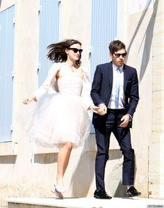 Keira Knightley wedding dress - Blush Chanel Ballerina dress