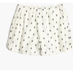 MADEWELL Pull-On Shorts in Diamond Dot ($60) ❤ liked on Polyvore featuring shorts, bright, pocket shorts, madewell shorts, pull on shorts, ikat shorts and madewell