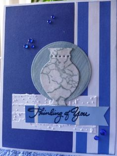 handmade card: Greece ... monochromatic blues ...