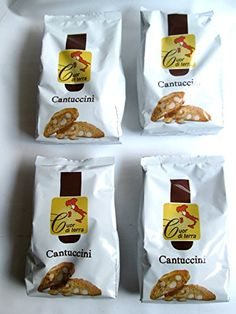 """Great Cuor di terra: """"Cantuccini"""" Hard Italian Biscuits * 10.5 Ounce (300g) Package (Pack of 4) * , ,"""