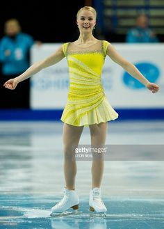 Kiira Korpi of Finland performs in the Ladies Short Program on day five of the ISU European Figure Skating Championships at the Motorpoint Arena in Sheffield on January Get premium, high resolution news photos at Getty Images Ice Girls, Surf Girls, Orange Braun, Big Size Dress, Figure Skating Costumes, World Figure Skating Championships, Girls Football Boots, Skateboard Girl, Cheer Pictures