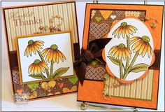"Some Fall designs using the Gina K set called ""Heartfelt."""