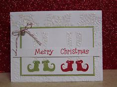 art from sizzix christmas embossing folders | Sizzix Embossing Folder Elf Legs So Cute for Christmas Cards | eBay