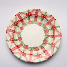 veronique Plates, Tableware, Red, Green, Tablewares, Licence Plates, Dishes, Dinnerware, Griddles