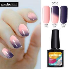 Modelones 10 ml UV Soak Off Changement de Température Ongles Gel Polonais Vente Chaude Nail Art Salon Vernis LED Longue Durée Gel