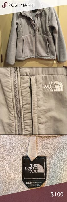 North Face Fleece Denali Jacket Popular fleece jacket by the North Face. Good condition, one zipper tassel missing. The North Face Jackets & Coats