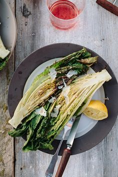 Grilled Caesar Salad by theyearinfood #Salad #Caesar #Grilled #Healthy