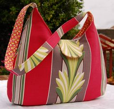 Free Fabric Handbag Patterns | My mom asked me to use this rare and lovely vintage decor fabric for ...