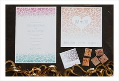 Free Printable Ombre Wedding Invitations
