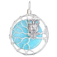 Owl Charm Necklace Owl Pendant Necklace Owl Jewelry