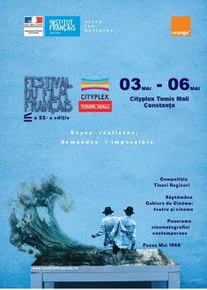 Festivalul de Film Francez la Cityplex Tomis MallTomis Mall – Primul Mall din Constanta France, Mall, Movies, Movie Posters, Films, Film Poster, Cinema, Movie, Film