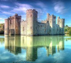 Bodiam Castle, Robertsbridge, East Sussex, England