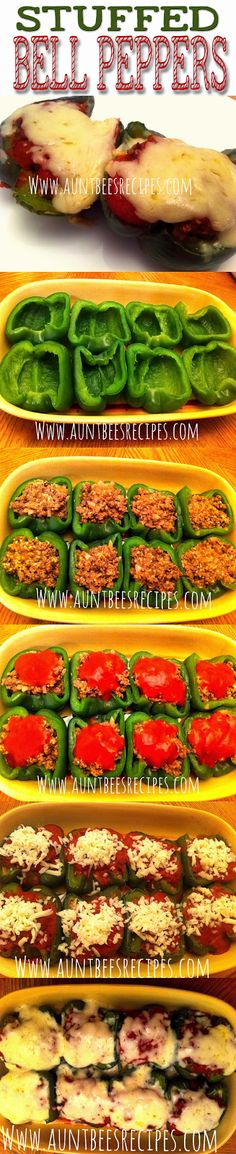 ~Amazing Stuffed Bell Peppers~ *Featuring Tony Chachere's Creole Seasoning* www.facebook.com/AuntBeesRecipes