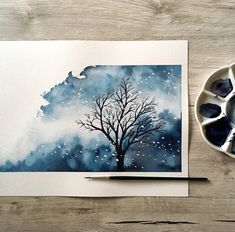 Likes, 47 Comments – Watercolor Drawings (Abbey Br … - ART Watercolor Painting Diy Watercolor, Watercolor Landscape, Watercolor Illustration, Landscape Paintings, Watercolor Paintings, Tree Illustration, Watercolor Inspiration, Painting Inspiration, Tree Artwork