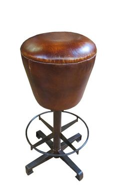 Classy bar stool with leather upholstered seat . From INDIA Foot Rest, Bar Stools, Counter, Solid Wood, Upholstery, Chairs, Classy, India, Traditional