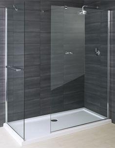 Image of RAK Deluxe 8 Walk In Shower Glass Panel 1200mm - RWRP1200