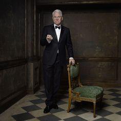 Celebrity portrait taken at the Vanity Fair Oscar after-party by Mark Seliger: Steve Martin