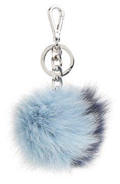 MICHAEL Michael Kors Genuine Fox Fur Bi-Color Bag Charm
