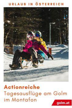 Auf die Plätze, fertig, los! Wer rodelt am schnellsten? Nutzt die Winterferien in Vorarlberg, macht einen Tagesausflug mit der ganzen Familie und rodelt um die Wette am Golm im Montafon. Jetzt informieren! Coronazeit Weihnachten | Familienzeit | Beschäftigung mit Kindern Urlaub zu Hause in Österreich | Aktivitäten Coronazeit | Winter Vacations, Day Trips, Ski, Family Vacations, Recovery