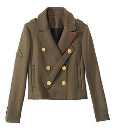 Tibi Green Admiral Jacket